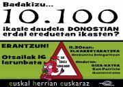 Larunbatean eskola euskaldunaren aldeko giza-katea eginen du EHEk Donostian