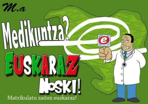 Medikuntzako Asanbladak eta Gure Osasungintza Eraikiz-ek euskaraz ikasteko deia egin dute