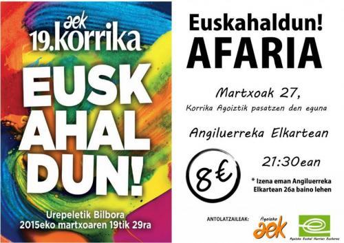 Euskahaldun afaria antolatu dute Agoizko AEK eta EHE-k