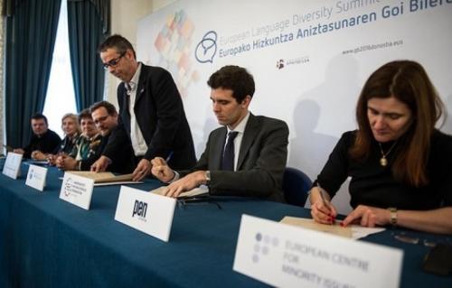 Europako Hizkuntza Aniztasunaren Goi Bilera egingo dute Donostian 2016ko abenduan